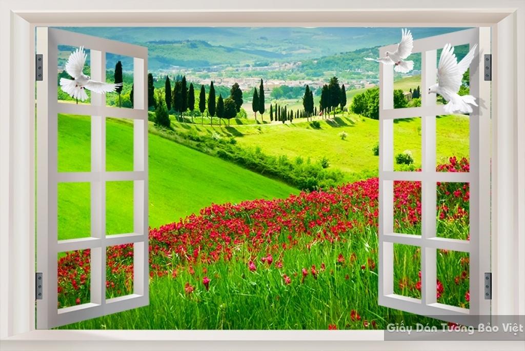 Tranh dán tường phong cảnh thiên nhiên M019