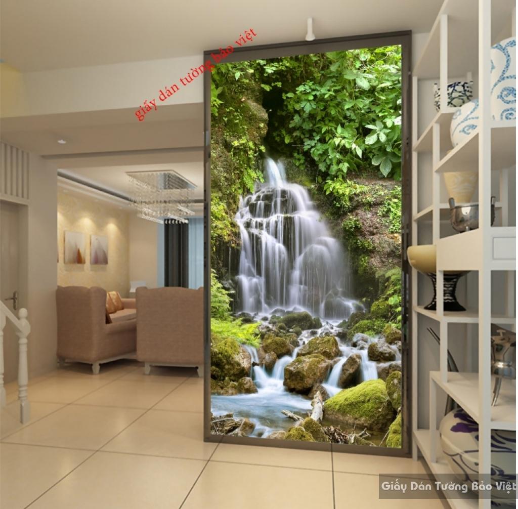 Tranh dán tường thác nước 3D đẹp K16235555