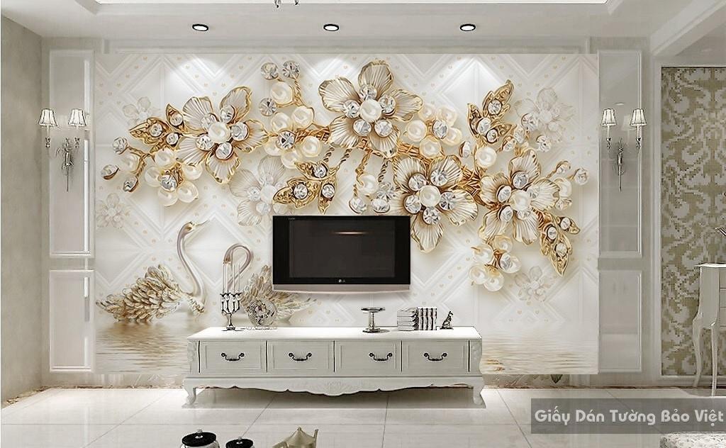 Tranh giấy dán tường hoa 3D FL002