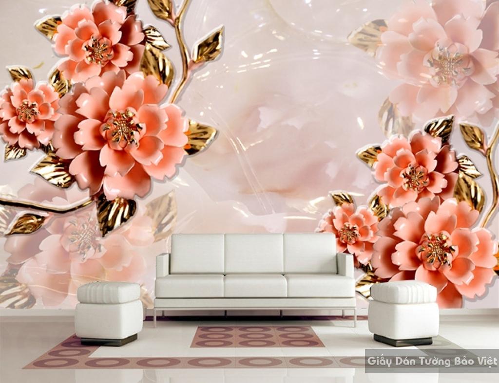 Tranh giấy dán tường hoa 3D FL004