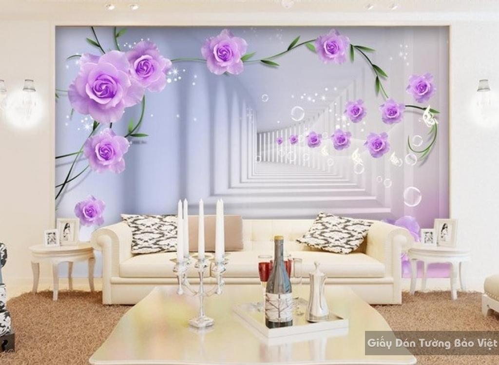 Tranh giấy dán tường hoa 3D FL009
