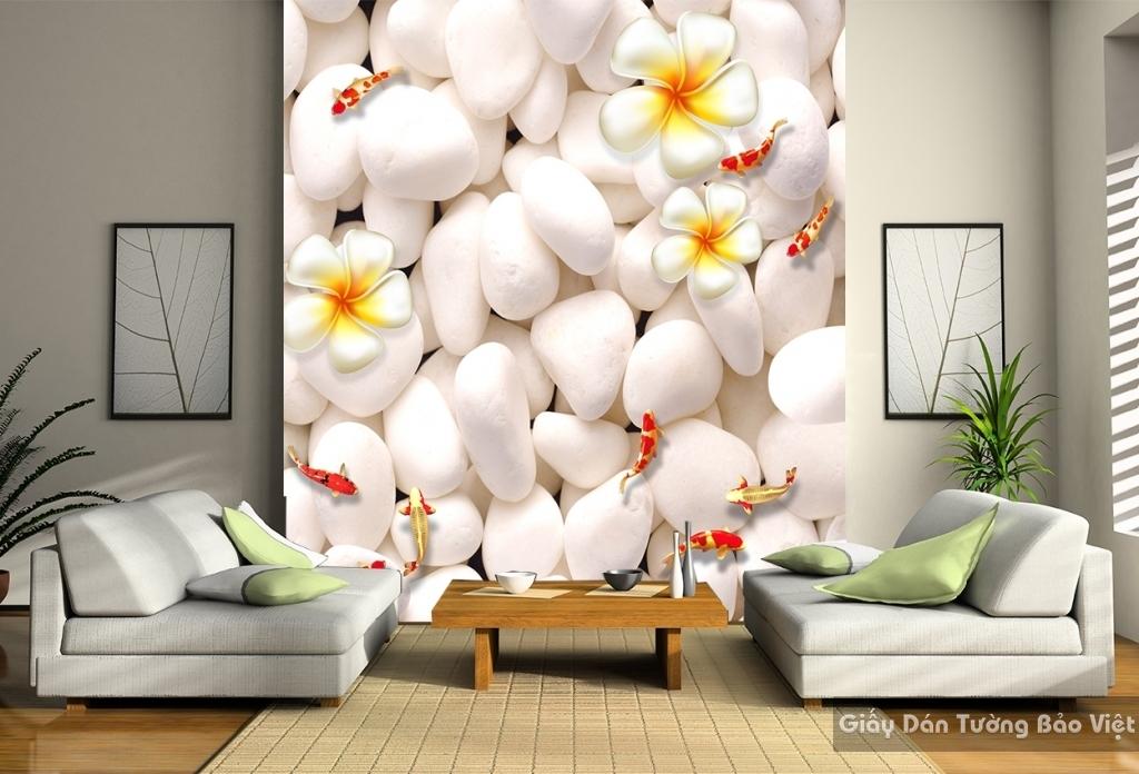 Tranh giấy dán tường hoa 3D FL011