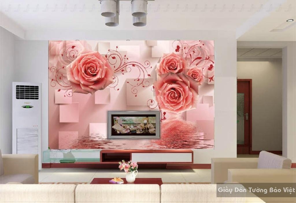 Tranh giấy dán tường hoa 3D FL012