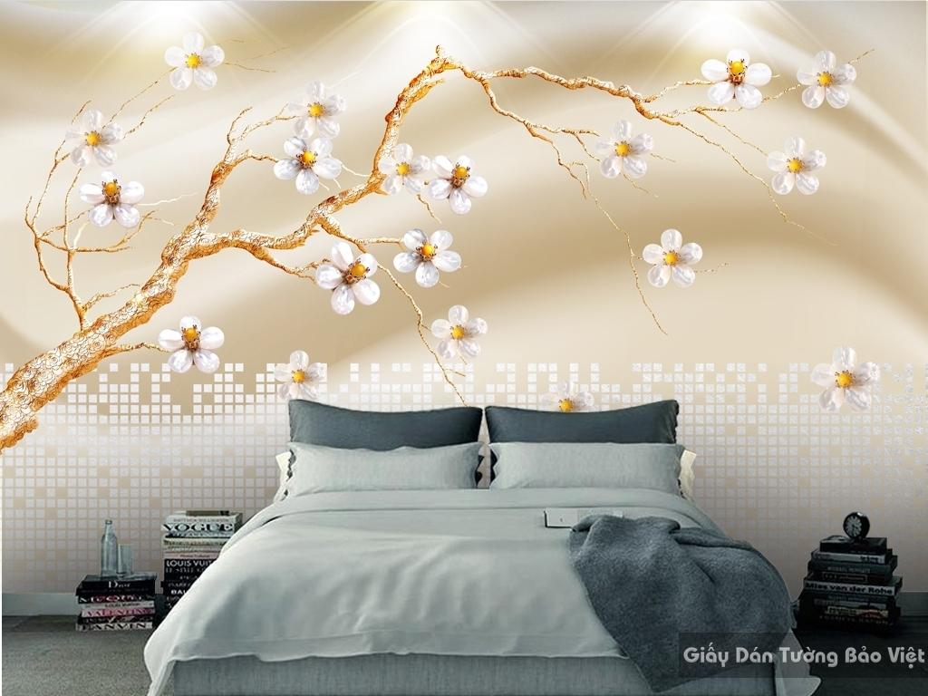Tranh giấy dán tường hoa 3D FL014