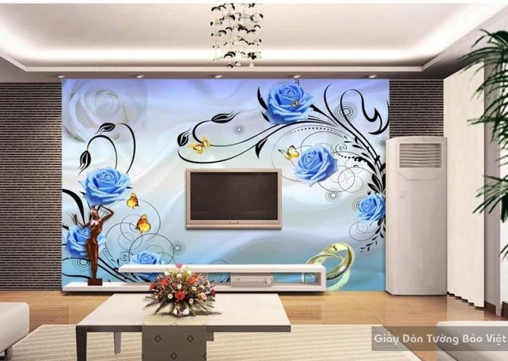 Tranh giấy dán tường hoa 3D FL015