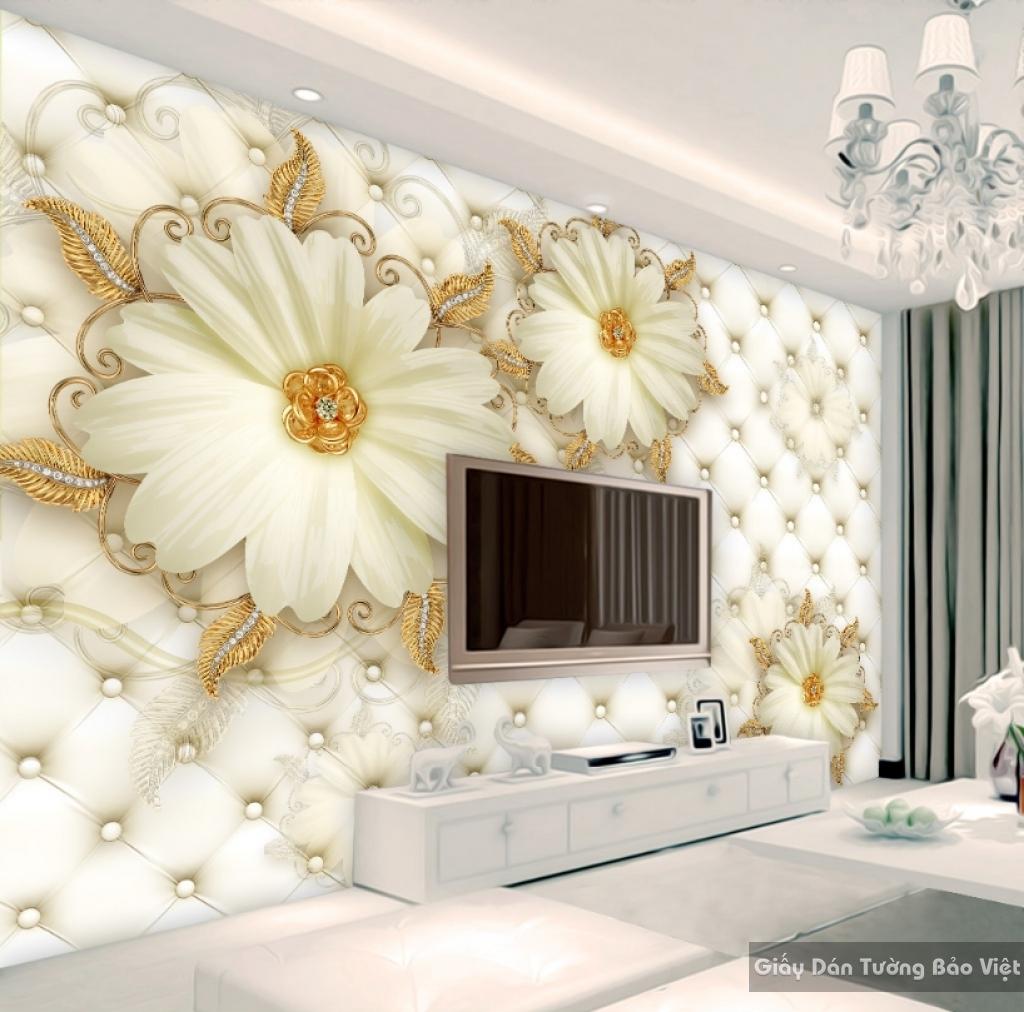 Tranh giấy dán tường hoa 3D FL017