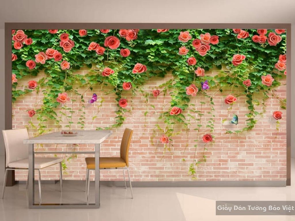 Tranh giấy dán tường hoa 3D FL020