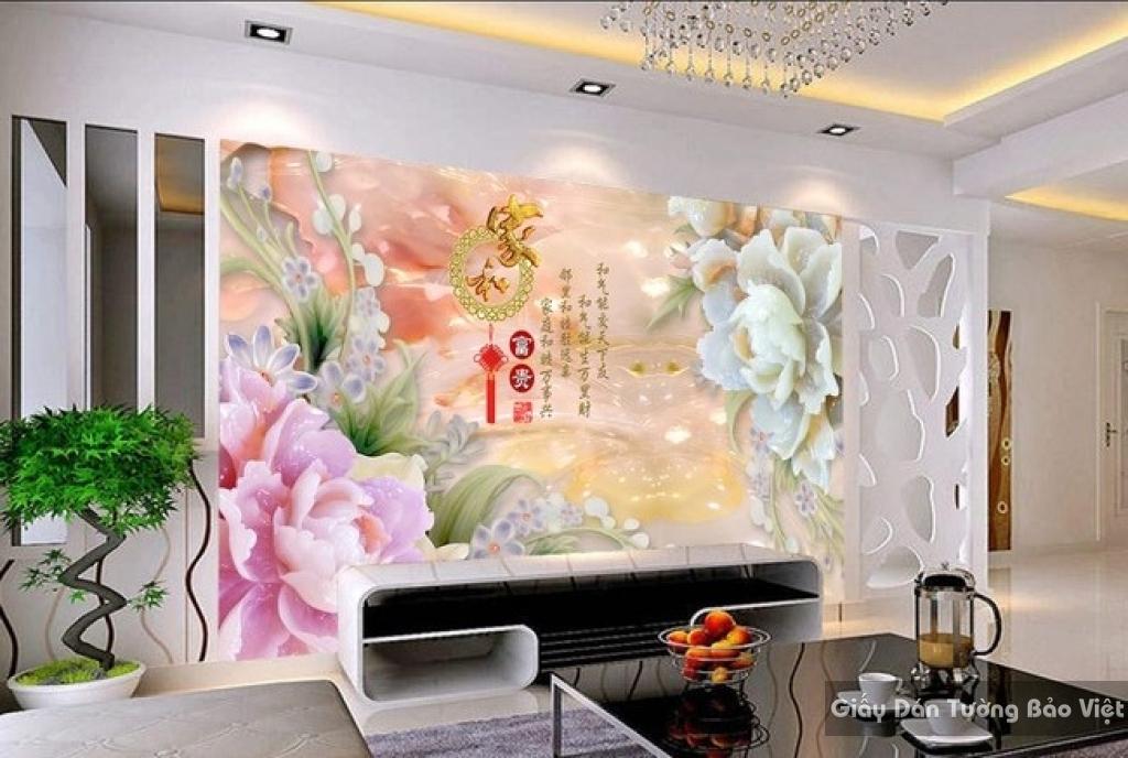 Tranh giấy dán tường hoa 3D FL021