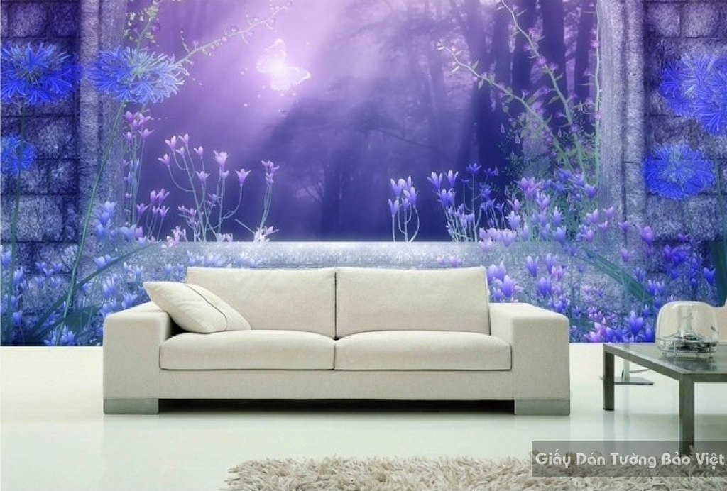 Tranh giấy dán tường hoa 3D FL024