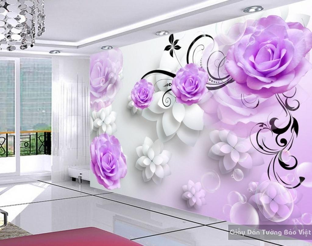 Tranh giấy dán tường hoa 3D FL025