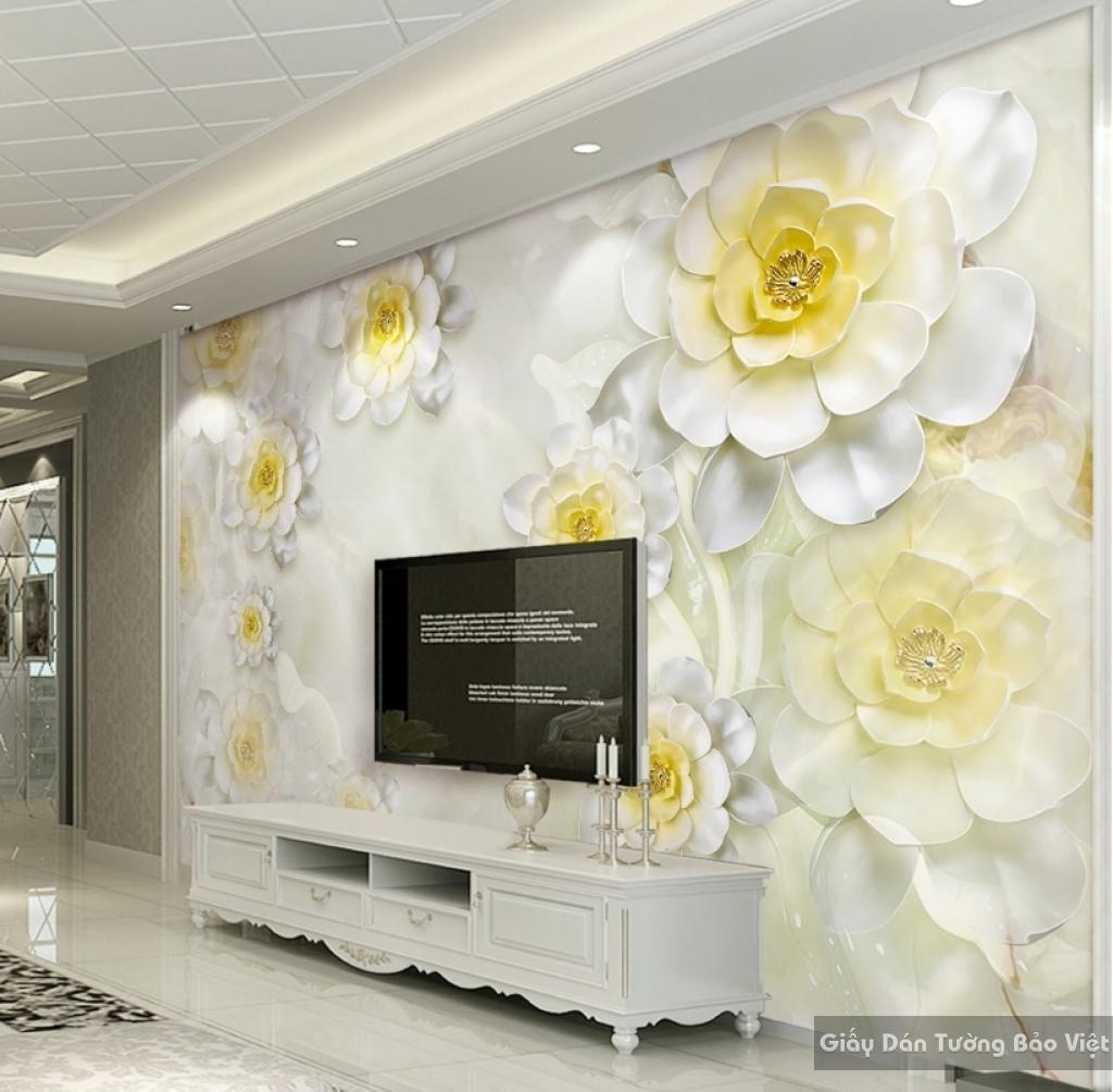 Tranh giấy dán tường hoa 3D FL026