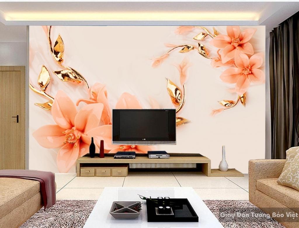 Tranh giấy dán tường hoa 3D FL029