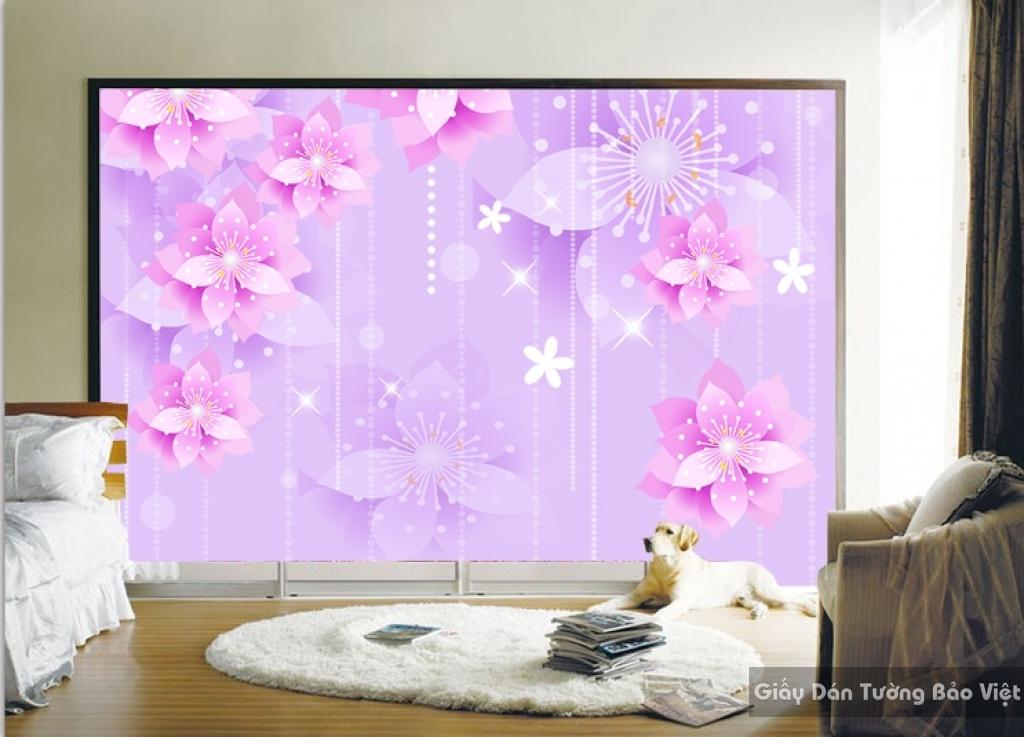 Tranh giấy dán tường hoa 3D FL030