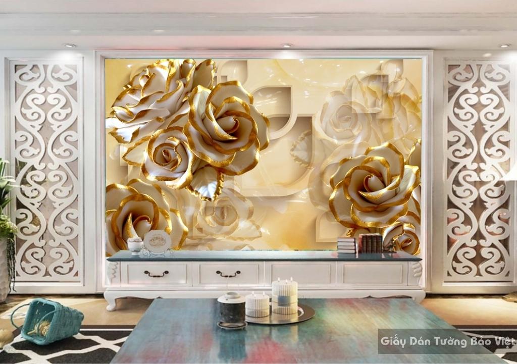 Tranh giấy dán tường hoa 3D FL033