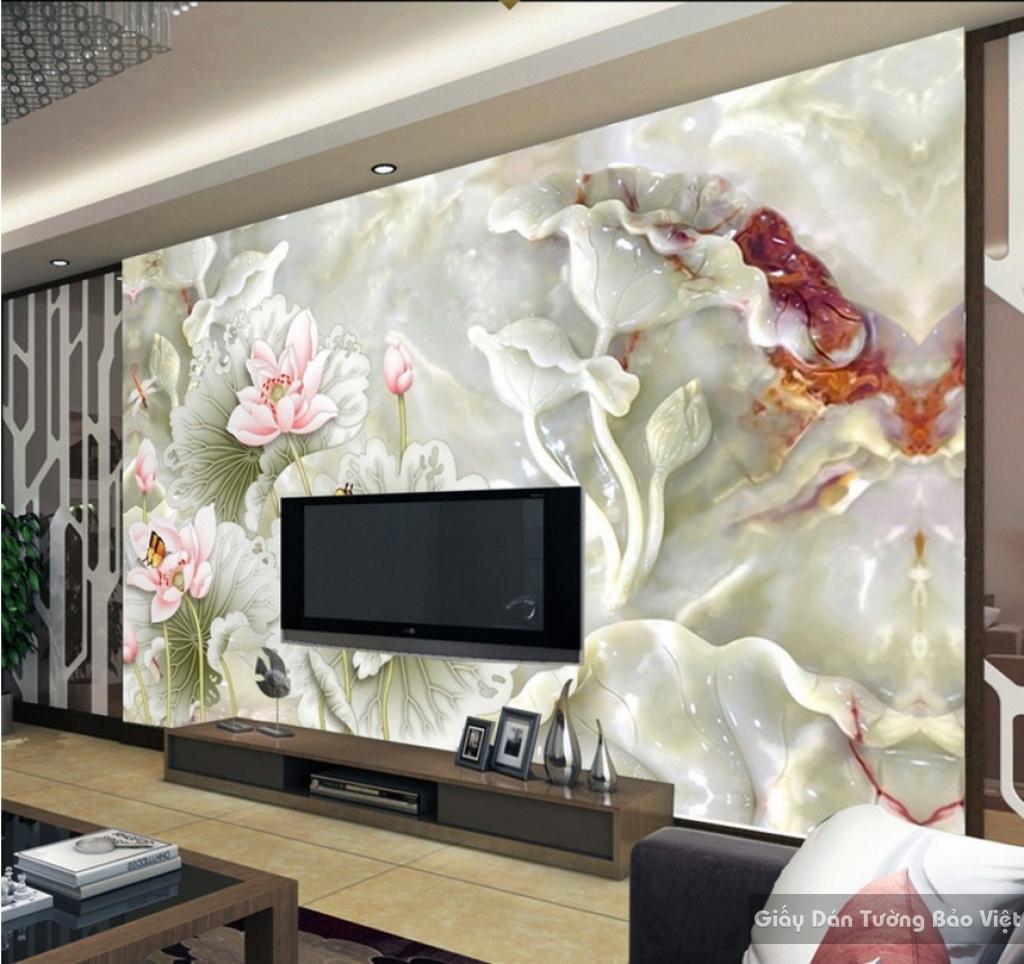 Tranh giấy dán tường hoa 3D FL010