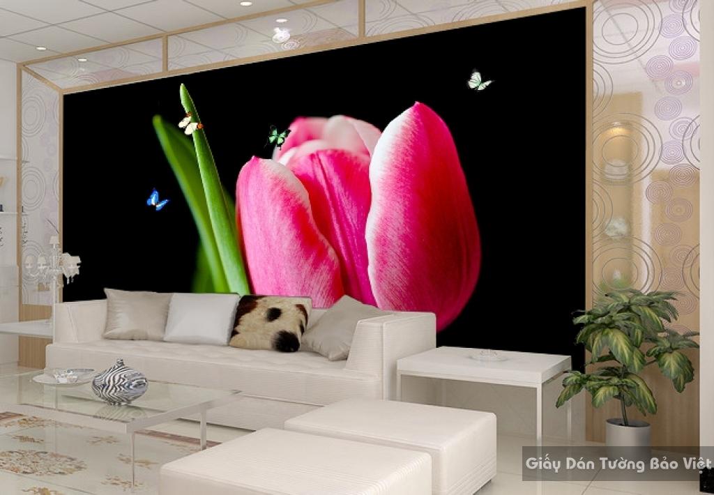 Tranh giấy dán tường hoa 3D H009