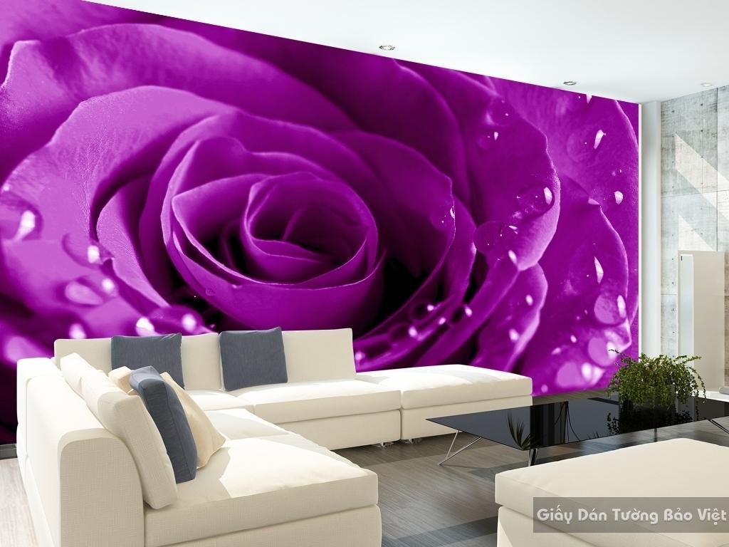 Tranh giấy dán tường hoa 3D H010