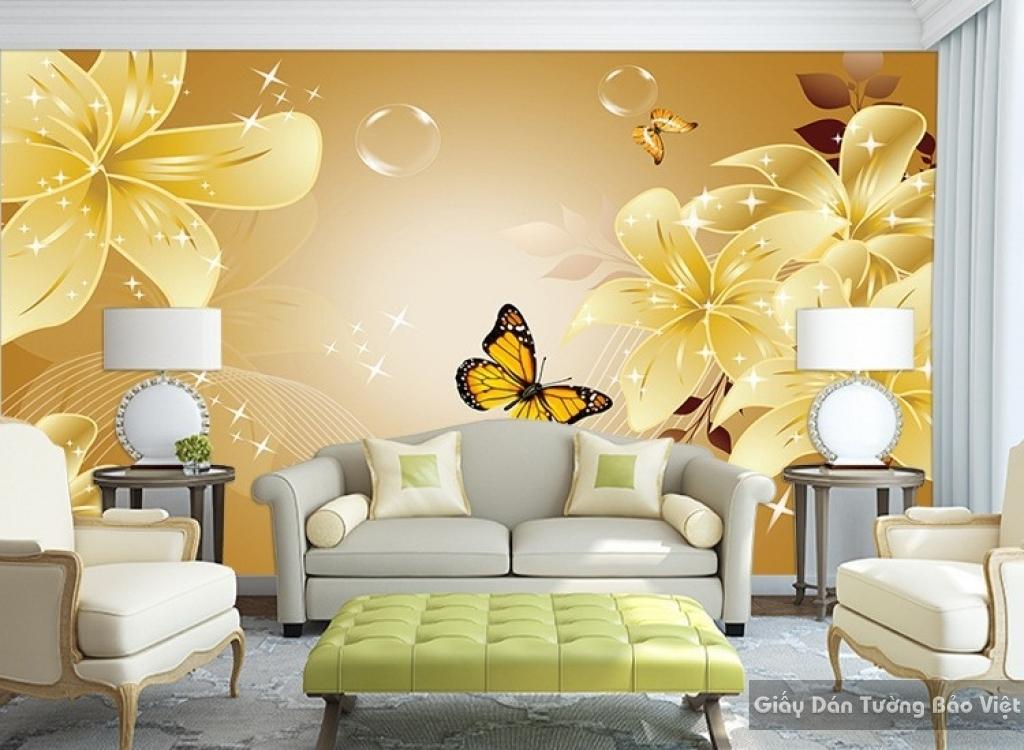 Tranh giấy dán tường hoa 3D H015