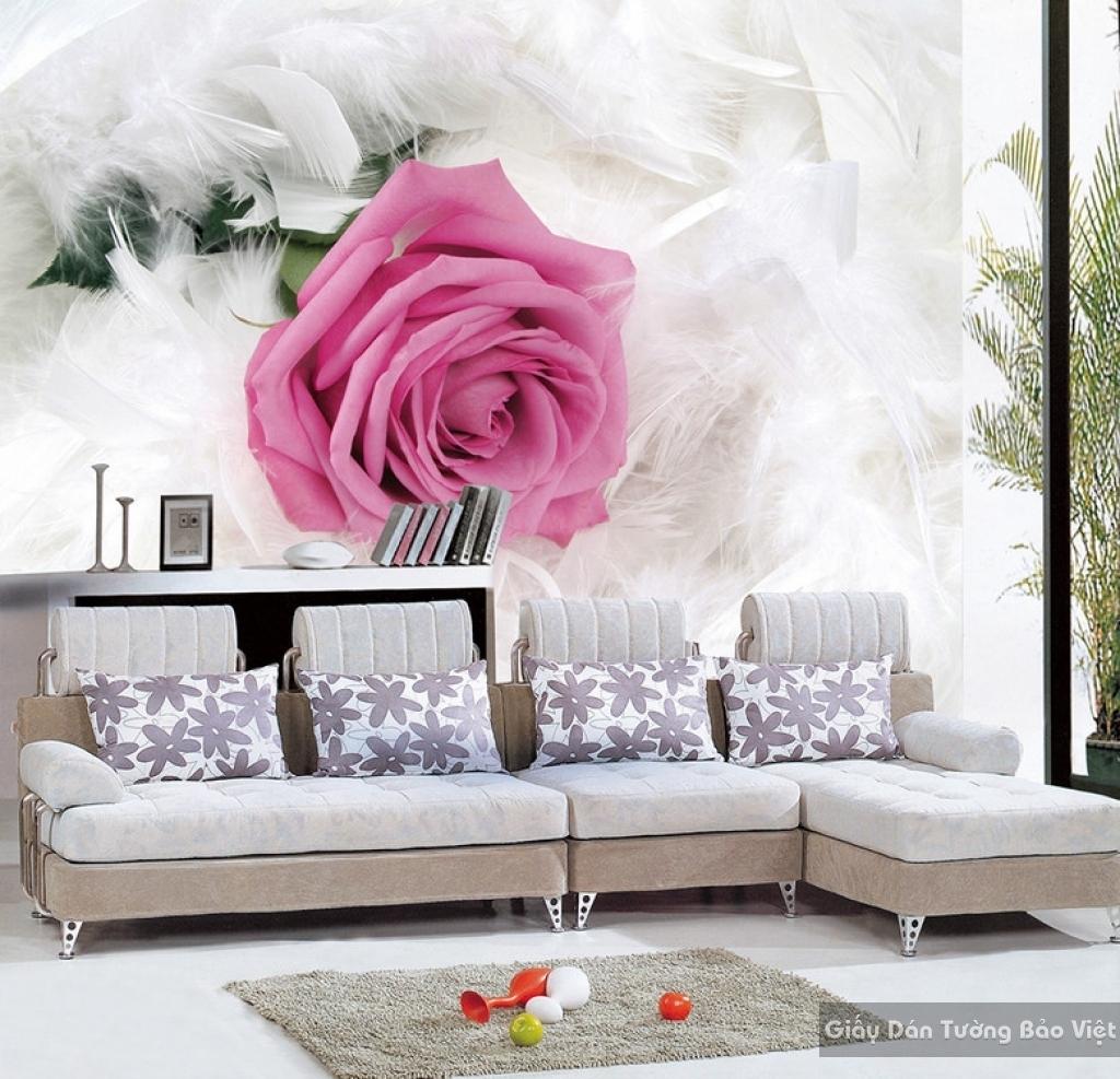 Tranh giấy dán tường hoa 3D H020
