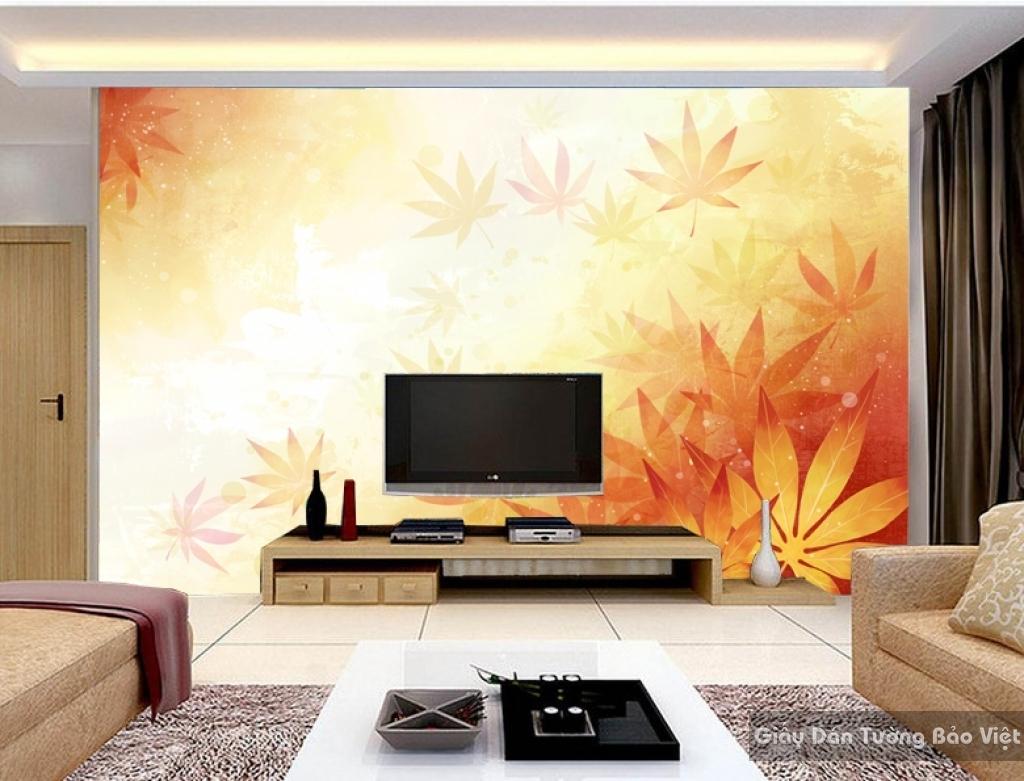Tranh giấy dán tường hoa 3D H023