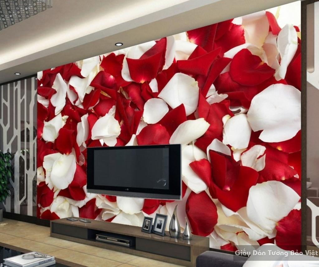 Tranh giấy dán tường hoa 3D H025