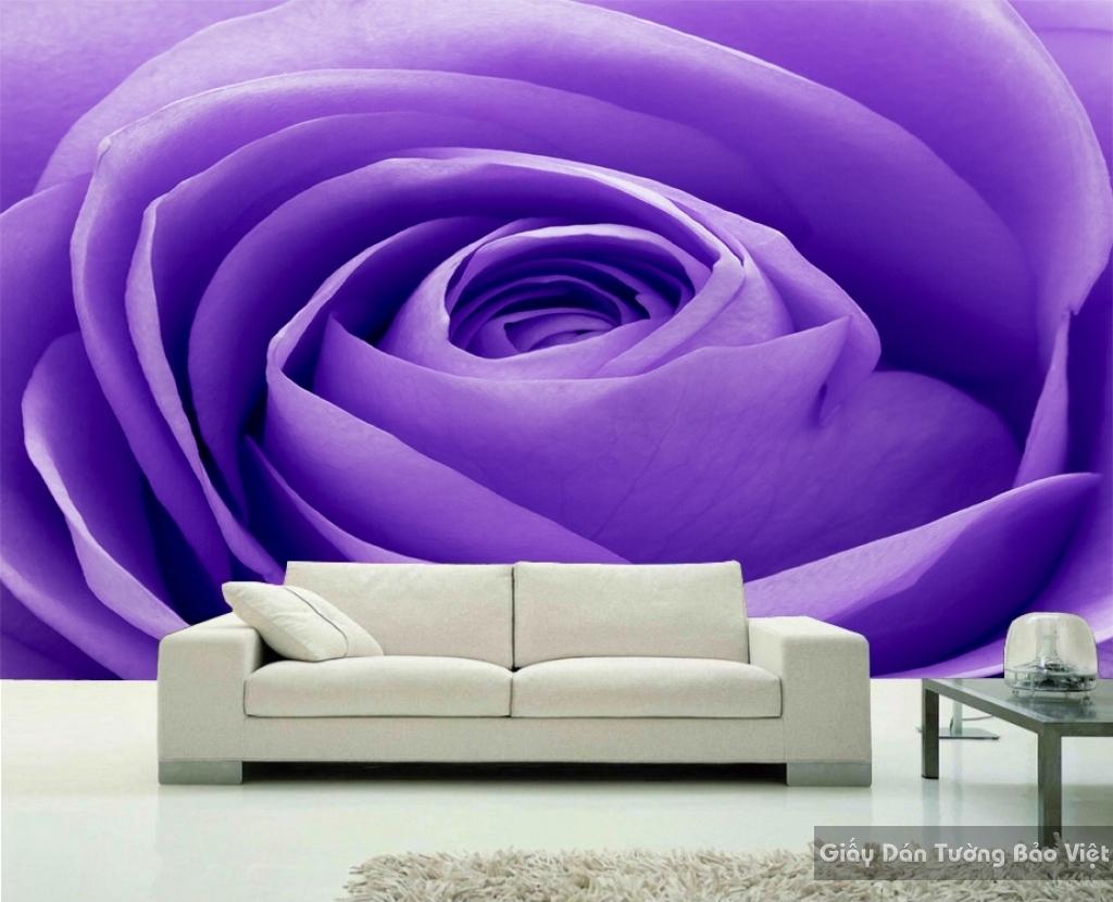 Tranh giấy dán tường hoa 3D H028