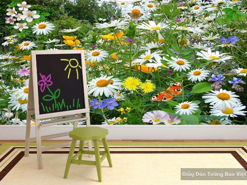 Tranh giấy dán tường hoa 3D H032