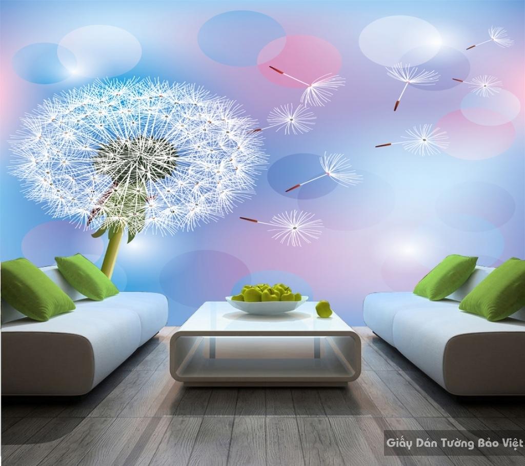 Tranh giấy dán tường hoa 3D H033
