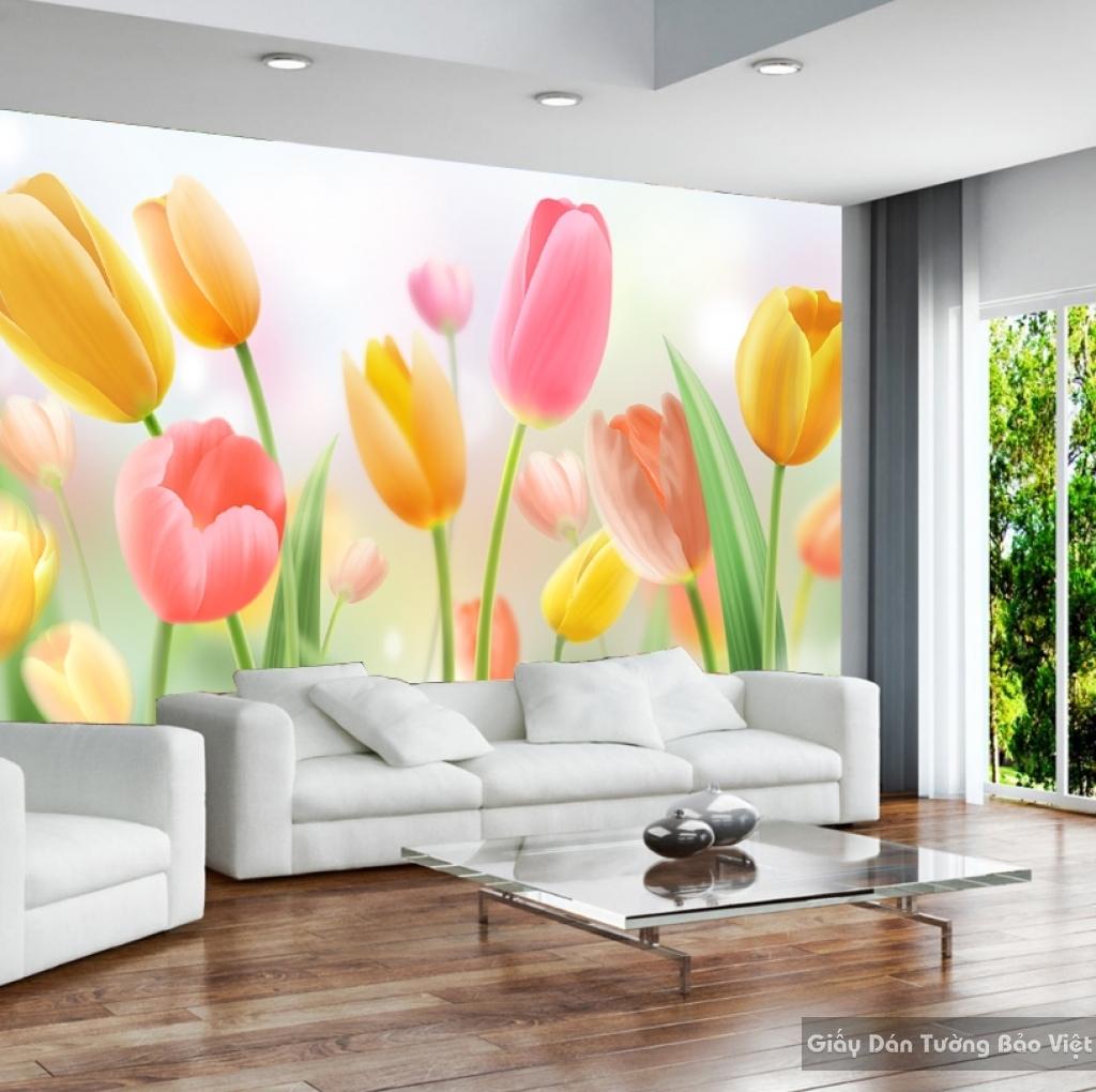 Tranh giấy dán tường hoa 3D H037