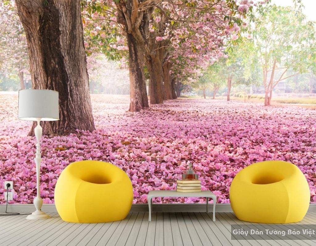 Tranh giấy dán tường hoa 3D H040