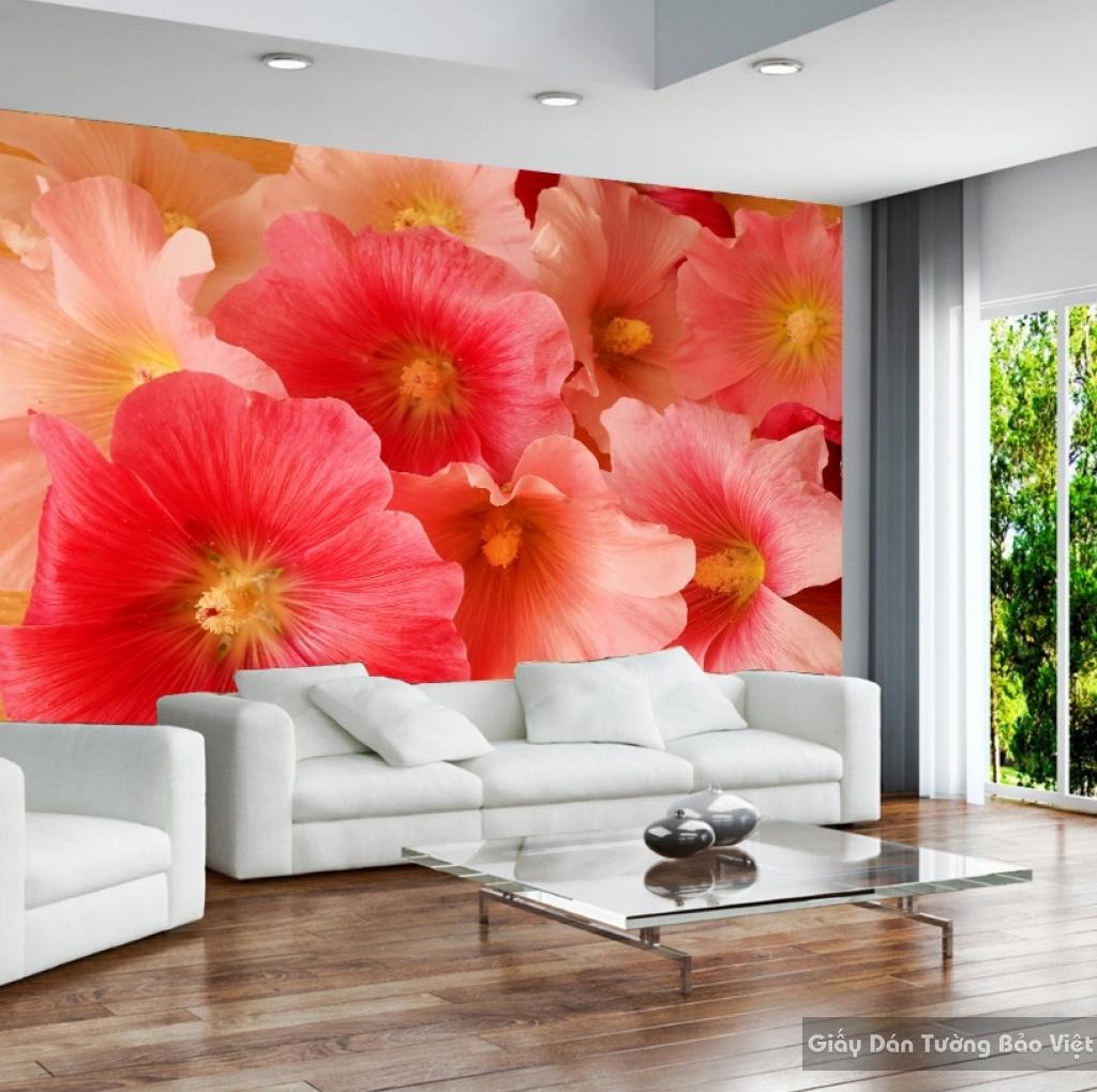 Tranh giấy dán tường hoa 3D H042