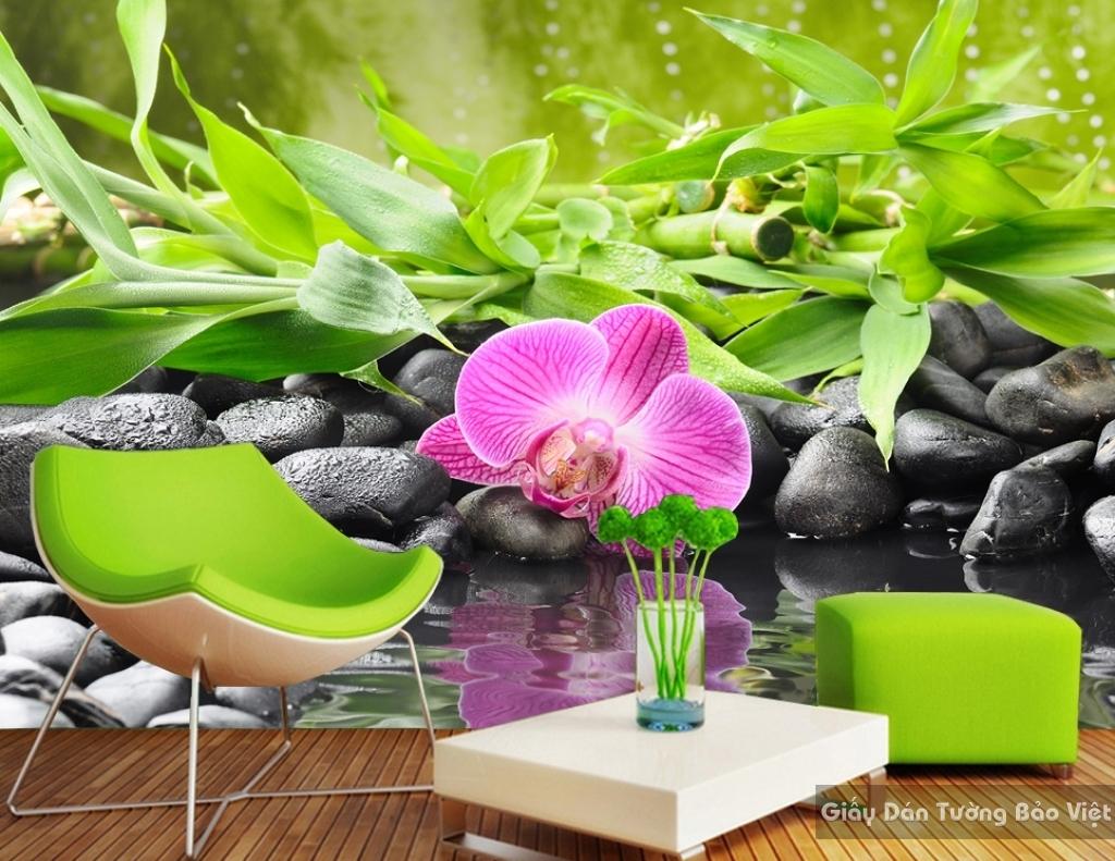 Tranh giấy dán tường hoa 3D H043