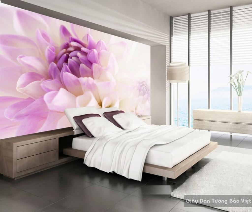 Tranh giấy dán tường hoa 3D H050