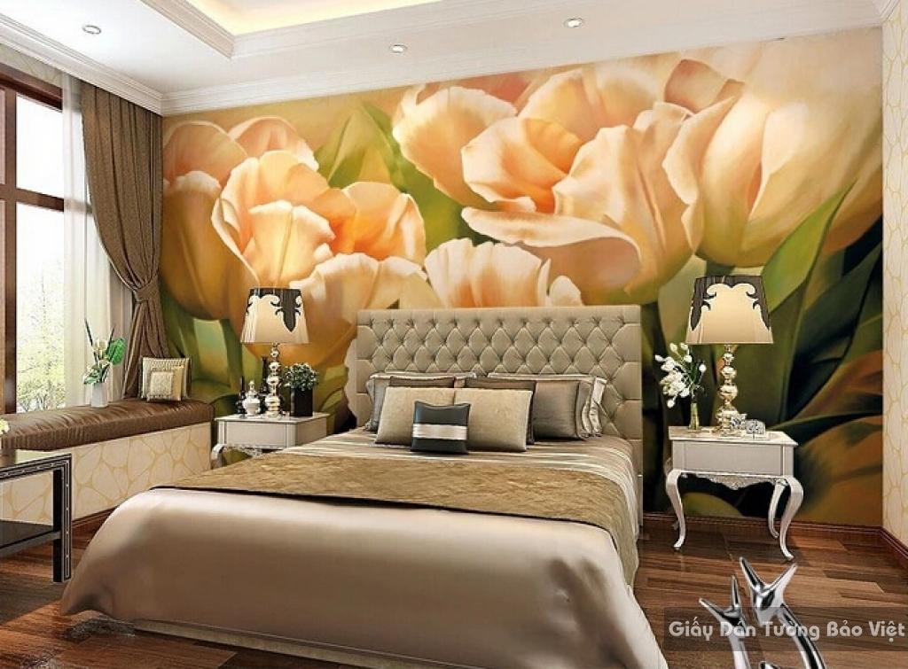 Tranh giấy dán tường hoa 3D H051