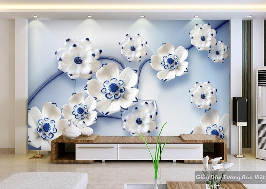Tranh giấy dán tường hoa 3D K13770700