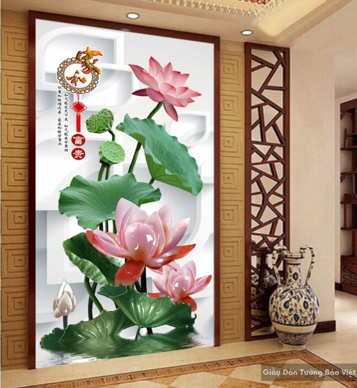 Tranh giấy dán tường hoa 3D K15250297