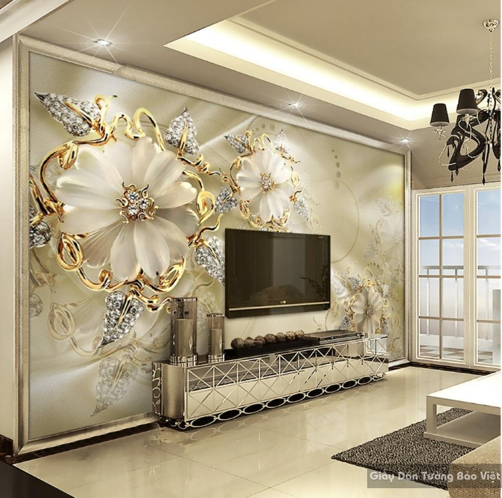 Tranh giấy dán tường hoa 3D K15505181