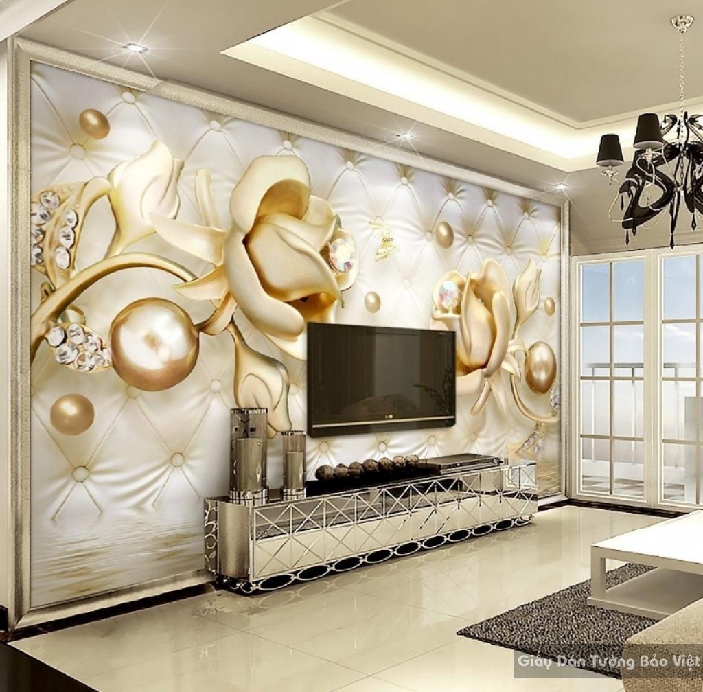 Tranh giấy dán tường hoa 3D K15718801