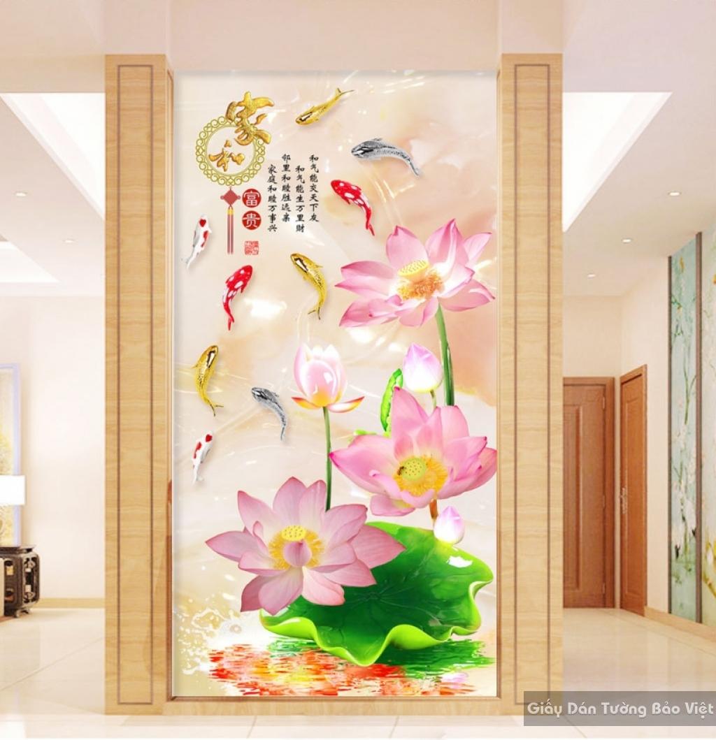 Tranh giấy dán tường hoa 3D K15724102