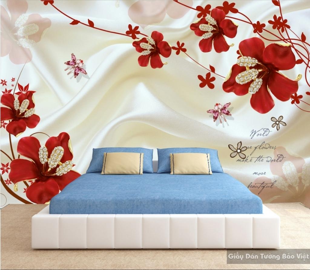 Tranh giấy dán tường hoa 3D K15986446