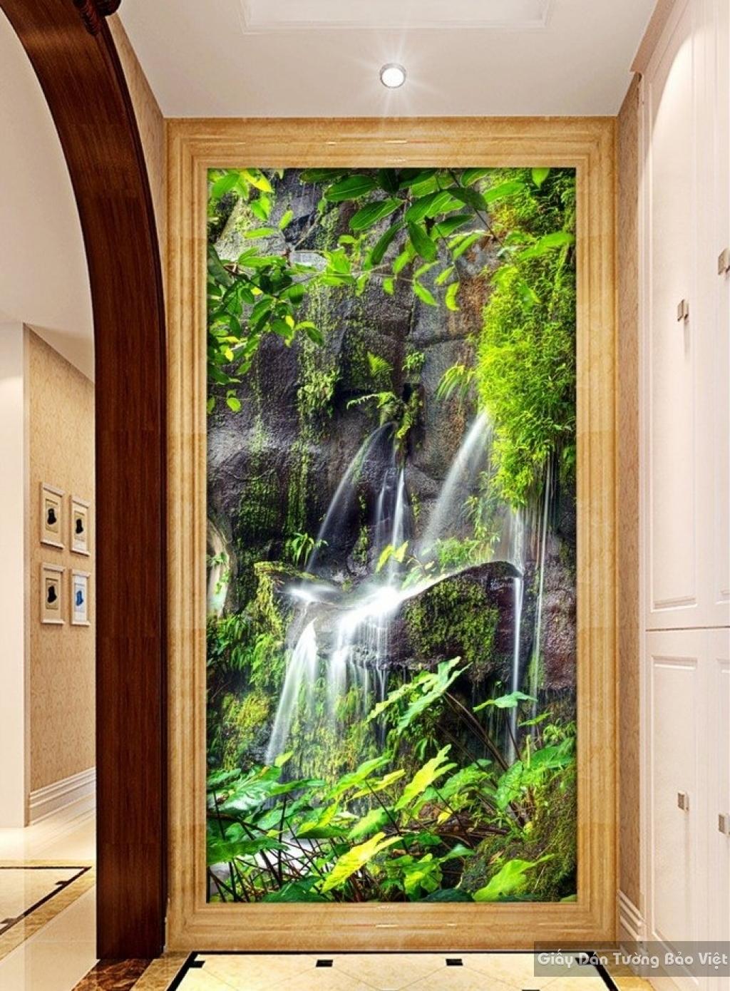 Tranh giấy dán tường thác nước 3D W025
