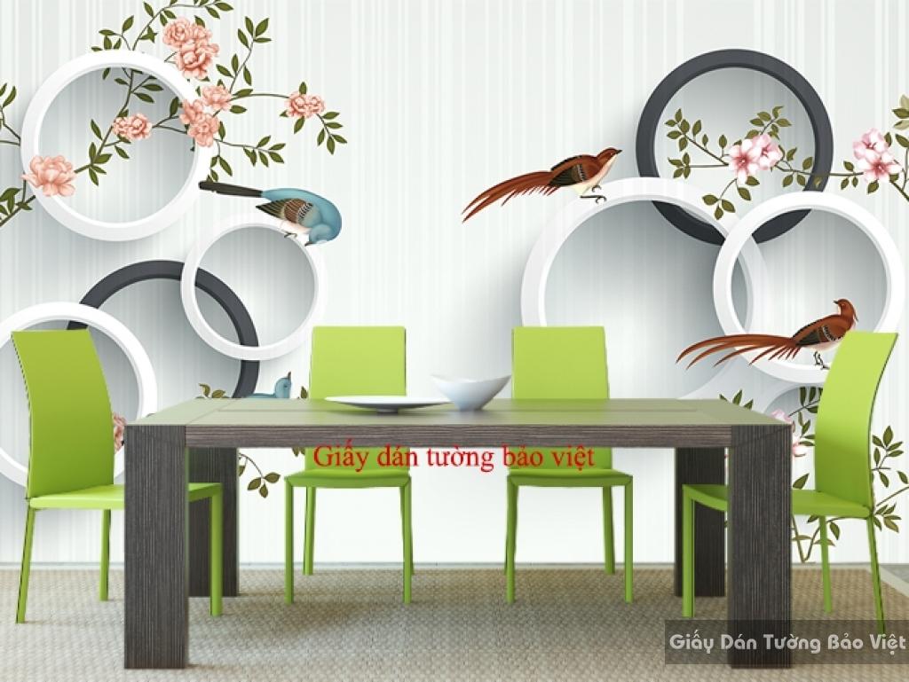giấy dán tường cho phòng ăn 3D-052
