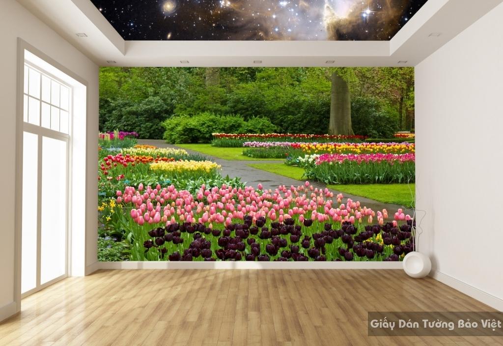 giấy dán tường phong cảnh 3d