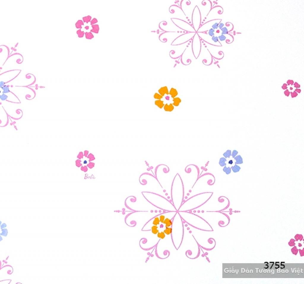 giấy dán tường trẻ em gái 3755