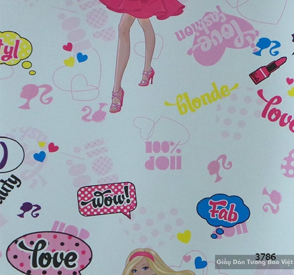 giấy dán tường trẻ em gái 3786