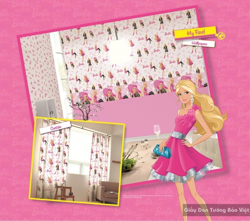 giấy dán tường trẻ em gái 9