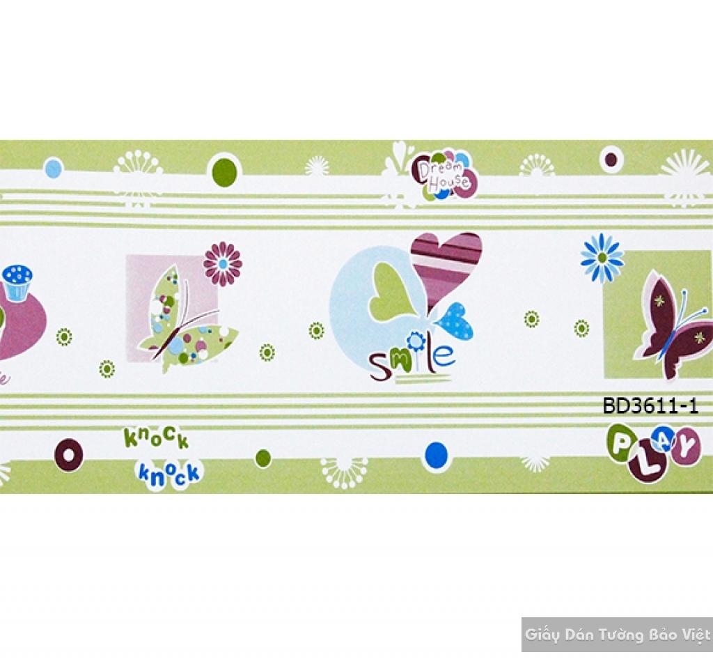 giấy dán tường trẻ em gái BD3611-1
